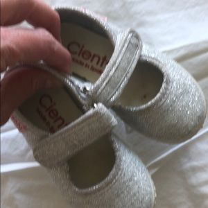 clients silver toddler girl maryjanes